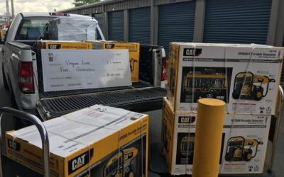 On Friday August 31,2018 we donated 5 generators to the wonderful people of Vieques Love.